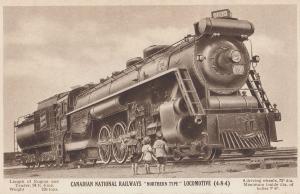 Canadian National Railways Northern Type Locomotive Train 4-8-4 Postcard