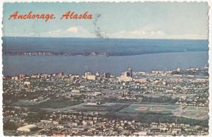 Anchorage, Alaska, 1976 used Postcard