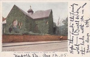 Virginia Norfolk Saint Pauls Church 1905