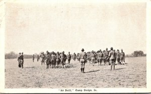 Iowa Des Moines Fort Dodge At Drill 1917