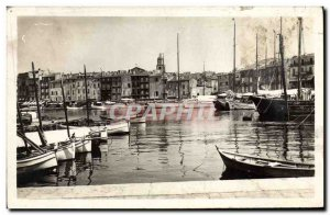 Old Postcard Saint Tropez Yacht Harbor