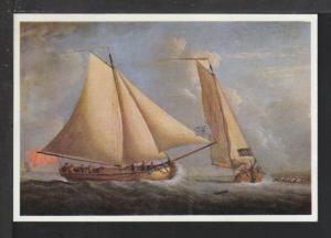 Sailboats,Painting,Monamy Postcard