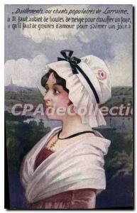 Postcard Old Daillements Or Chants Populaires Larraine