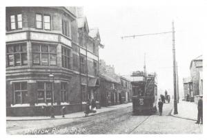 Oldham Postcard c1905 Tram on Milnrow Road, Shaw, Lancashire Repro Card Q36