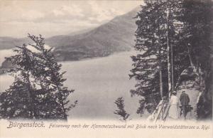 Felsenweg Nach Der Hammetschwand Mit Blick Nach Vierwaldstattersee U. Rigi, B...