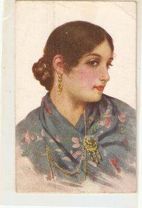 Albert. Lady from Aragon. Aragonesa Fine painting, vintage Spanish PC