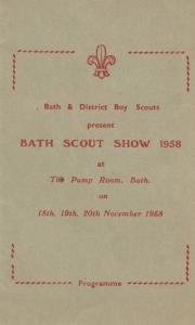 Bath Somerset Boy Scout MusicalTheatre Show 1958 Programme