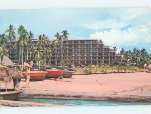 Pre-1980 HOTEL SCENE Maeva Beach - French Polynesia Tahiti B2090