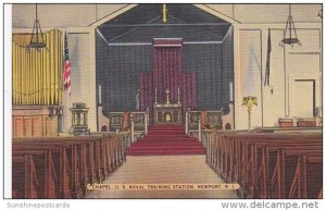 Rhode Island Newport Chapel Interior U S Naval Training Station