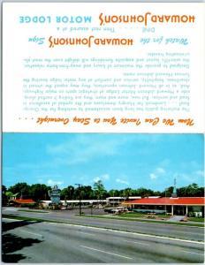 Vintage Advertising Double Folding Postcard HOWARD JOHNSON'S Motor Lodge 1960s