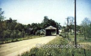 East Trumbull, Ashtabula Co, OH USA Covered Bridge Postcard Post Card Old Vin...