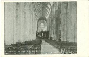 UK, Winchester Cathedral Nave, 1903 used Postcard