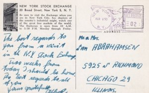 NEW YORK CITY, 1953; New York Stock Exchange, The Nation's Market Place