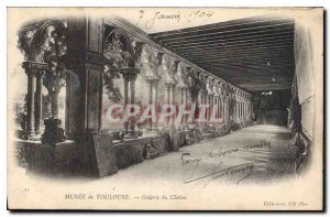 Old Postcard Musee Toulouse Cloister Gallery