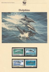 Dolphins Kiribati WWF Stamps and Set Of 4 First Day Cover Bundle