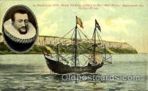 Henry Hudson, Half Moon Sail Boat, Boats, Postcard Postcards  Henry Hudson, H...