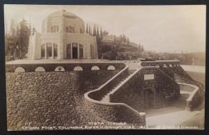 Vista House, Crown Point, Columbia River Hwy, OR Cross & Dimmitt 413 Real Photo