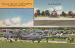 2-Views, Veteran's Administration Hospital, Main Gateway, RICHMOND, Virginia,...