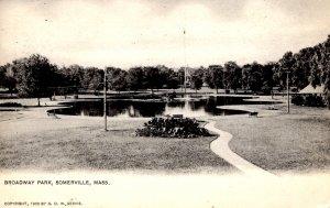 Somerville, Massachusetts - The Lake at Broadway Park - c1905