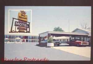 POCAHONTAS ARKANSAS BEST WESTERN MOTEL OLD CARS ADVERTISING POSTCARD