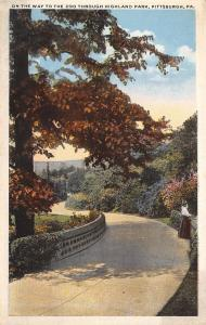 Pittsburgh Pennsylvania~Ladies on Path thru Highland Park~On Way to Zoo~1920s PC