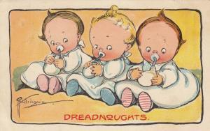 Grace DRAYTON-WIDERSEIM, 1910; Three babies drinking their bottles