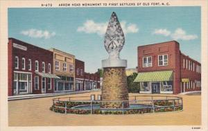 Arrow Head Monument To First Settlers Of Old Fort North Carolina