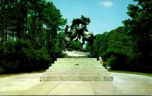 South Carolina Myrtle Beach Fighting Stallions At Entrance To Brookgreen Gardens