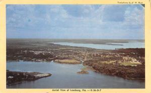Leesburg Florida Birdseye View Of City Vintage Postcard K68588