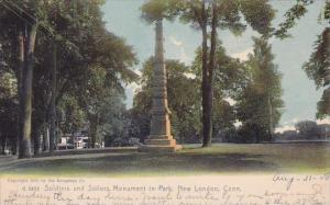 Connecticut New London Soldiers And Sailors Monument In Park 1908