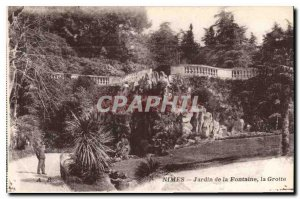 Postcard Old Nimes Fountain Gardens Cave