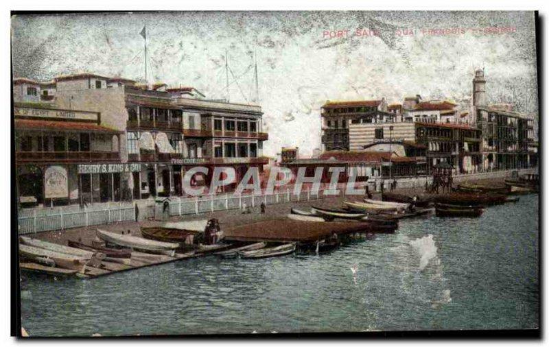 Africa - Africa - Eygypte - Egypt - Port Said - - Quai Francois - boat - Old ...