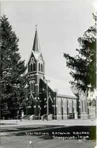 IA, Stacyville, Iowa, Visitation Catholic Church, RPPC