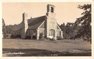 Hart Michigan Little Point Sable Church Real Photo Antique Postcard K101032