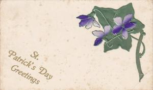 Saint Patrick's Day Greetings With Flowers 1909