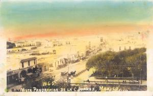Ciudad Juarez Mexico~Downtown Panorama~Horse Wagons~1920s Real Photo~RPPC
