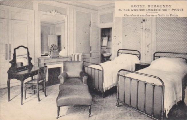 France Paris Hotel Burgundy Chambre a coucher avec Salle de Bains ...
