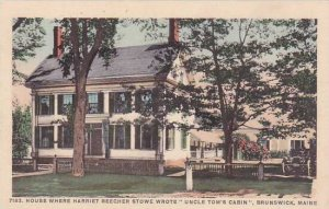 Maine Brunswick House Where Harriet Beecher Stowe Wrote Uncle Toms Cabin