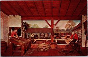 Hagley Museum, Wilmington DE Diorama Tanning Leather Vintage Postcard K16