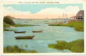 Looking out The Harbor, Hyannis, Massachusetts, 1930-40s PU