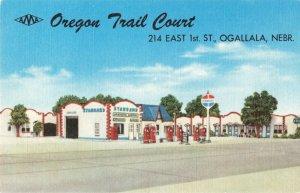 Postcard Oregon Trail Court Ogallala Nebraska