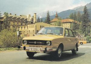 Skoda Vintage Classic Car Motokov Praha Czechoslovakia Postcard