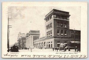Boston Massachusetts~North Railroad Station~Busy Traffic~Overload Wagon1906