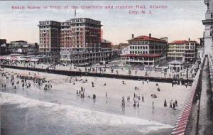 Beach Scene In Front Of The Chalfonte And Haddon Hill Atlantic City New Jersey