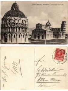 CPA PISA Duomo Battisero e Campanile dall'alto. ITALY (467450)