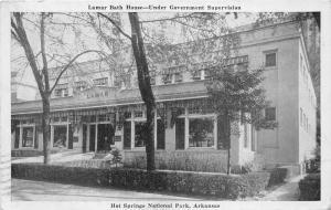 Hot Springs National Park Arkansas~Lamar Bath House~Info on Back~1946 Postcard