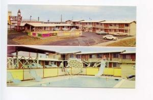 Watsonville CA Town House Motel on Hwy 1 Old Cars Postcard