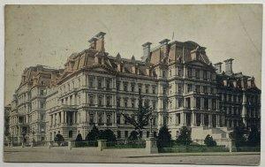 Old Divided Back Postcard State War & Navy Building Washington, D.C.Used 1912
