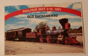 Vintage Postcard train The Jupiter Genoa Eastern Railroad Old Sacramento Utah