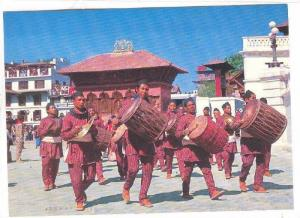Farmers with drums (Dhimey) , NEPAL , 70-80s